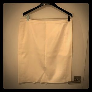 J crew lines cream pencil skirt size 14 like new